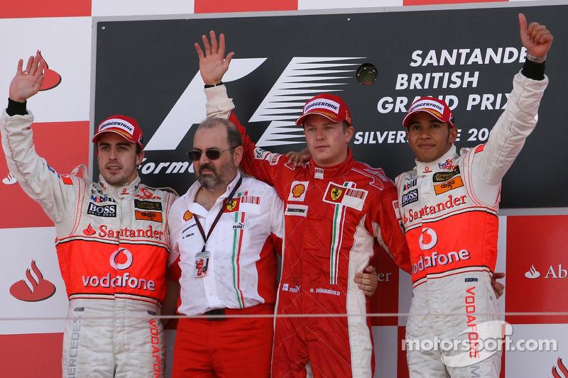 Fernando Alonso, 2º en el GP de Gran Bretaña 2007