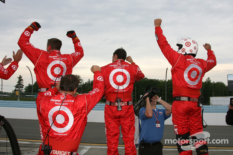 The Target Chip Ganassi team celebrates