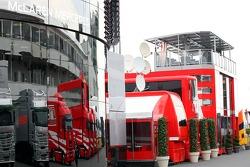 McLaren Mercedes hospitality unit