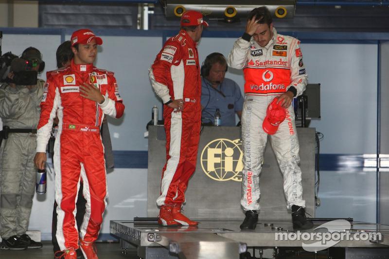 Фернандо Алонсо, McLaren Mercedes, Кімі Райкконен, Scuderia Ferrari, Феліпе Масса, Scuderia Ferrari
