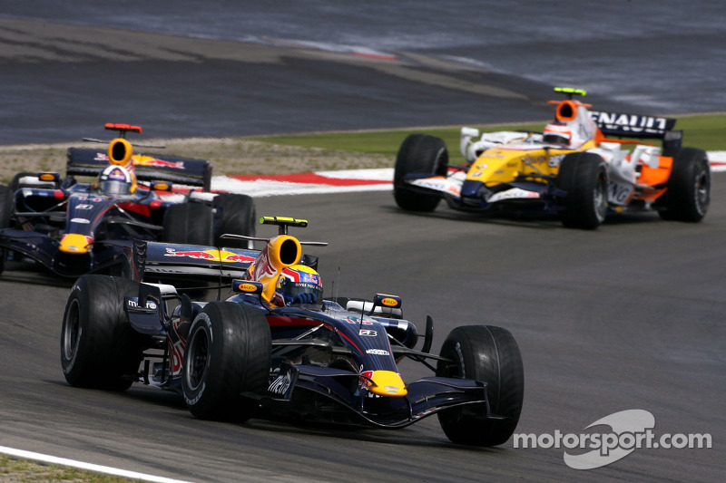 Mark Webber, Red Bull Racing; David Coulthard, Red Bull Racing