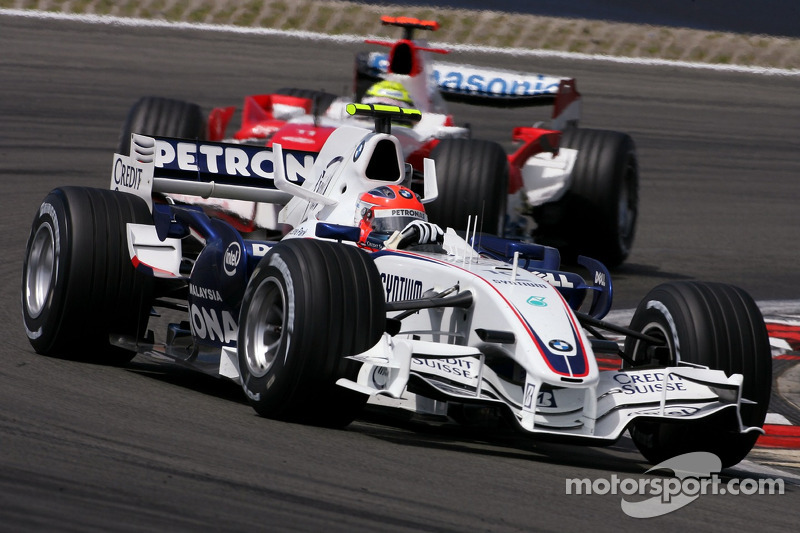 Robert Kubica,  BMW Sauber F1 Team; Ralf Schumacher, Toyota Racing