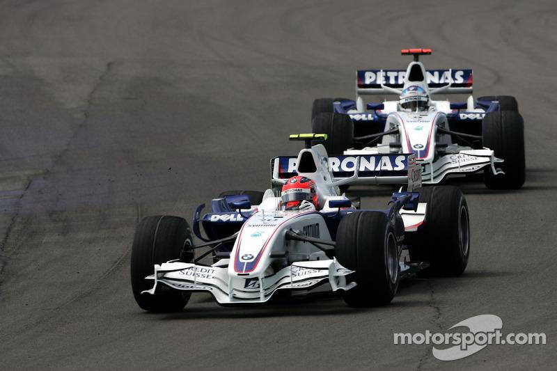 Robert Kubica, BMW Sauber F1 Team y Ralf Schumacher, Toyota Racing