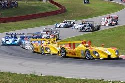 Start: #7 Penske Motorsports Porsche RS Spyder: Romain Dumas, Timo Bernhard leads #6 Penske Motorspo