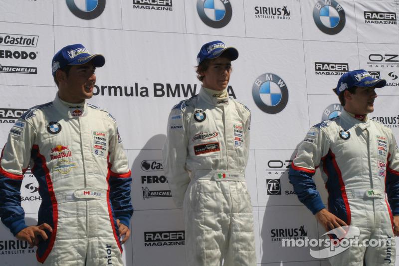 The podium: Daniel Morad, Esteban Guterriez and Ricardo Favoretto