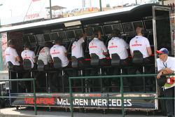 McLaren Mercedes team pitwall