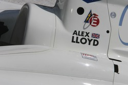 Victory lane: detail of Alex Lloyd's car