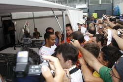 Media attention for Lewis Hamilton
