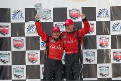 Championship podium: 2007 Grand-Am Rolex Series DP champions Alex Gurney and Jon Fogarty