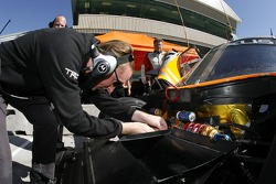 Michael Shank Racing team member at work