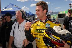 GT pole winner Paul Edwards celebrates