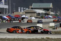 #56 BSI Racing Mazda MX-5: Todd Buras, Christian Miller and #138 GS Motorsports Chevrolet Cobalt: Steve Kent, Gunter Schmidt, Andrew Danyliw collide and spin