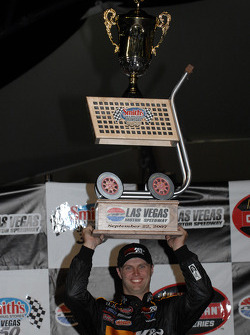 Victory lane: race winner Travis Kvapil celebrates