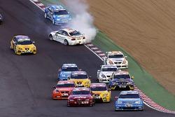 Départ, Alain Menu, Team Chevrolet, Chevrolet Lacetti