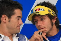 Carlos Checa and Valentino Rossi