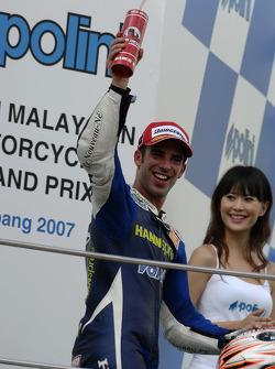 Podium: second place Marco Melandri