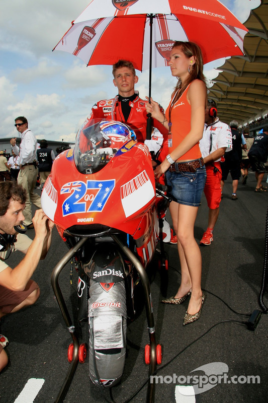 Casey Stoner with wife, Adrianna at Malaysian GP
