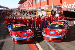 Team AF Corse photoshoot