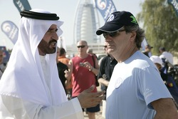 Mohammed Ben Sulayem and Carlos Sainz