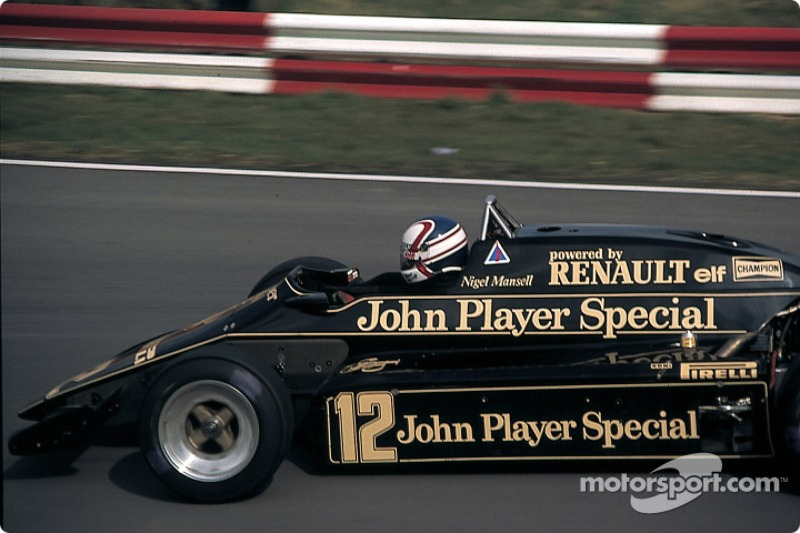 Nigel Mansell, Lotus-Renault 93T at Race of Champions
