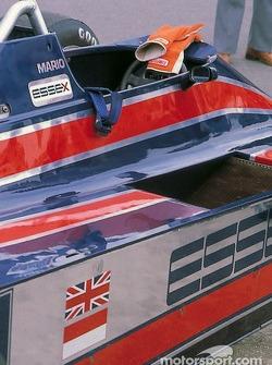 Cockpit of Mario Andretti's Lotus 81 Ford