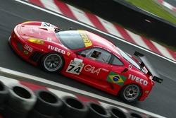 #74 JMB Racing Ferrari F430 GT: Francisco Longo, Chico Serra, Daniel Serra