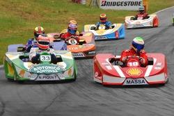 Felipe Massa and Nelson A. Piquet