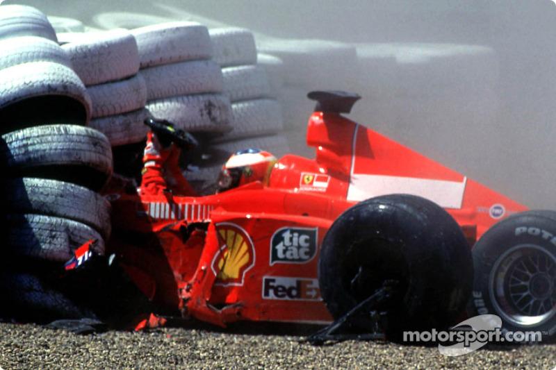Michael Schumacher crashes