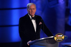 News anchor Tom Brokaw speaks during the NASCAR Nextel Cup Series Awards Ceremony at the Waldorf Astoria