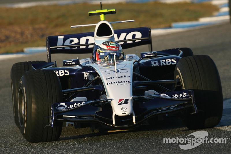 Dezember 2007: Erster Formel-1-Test