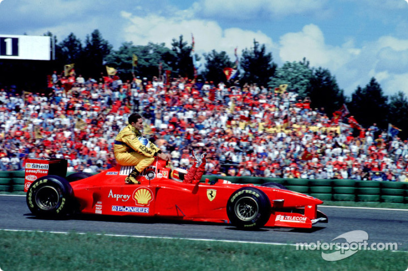 Hockenheim 1997: Michael Schumacher (Ferrari) - Giancarlo Fisichella (Jordan)