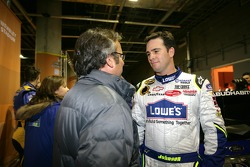 Jimmie Johnson in the paddock