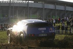 Volkswagen send-off event: Volkswagen Race Touareg 2 at the Volkswagen Arena at Wolfsburg