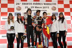 Pemenang balapan, KFJ: Kush Maini, Forza Racing, peringkat kedua Colombo Lorenzo, FOCO Racing Team,