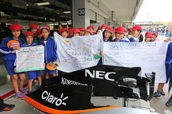 The Sahara Force India F1 Team welcomes its young fans
