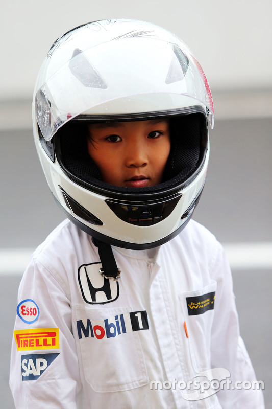 A young McLaren Honda fan