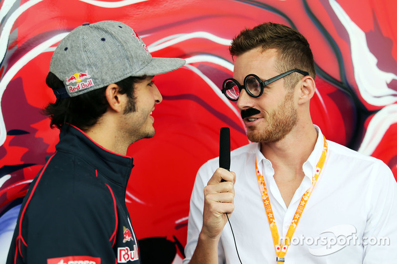 Carlos Sainz Jr., Scuderia Toro Rosso, mit James Rossiter