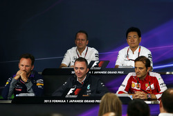 The FIA Press Conference: Jonathan Neale, McLaren Chief Operating Officer, Yasuhisa Arai, Honda Motorsport Chief Officer, Christian Horner, Red Bull Racing Team Principal, Paddy Lowe, Mercedes AMG F1 Executive Director, Luigi Fraboni, Ferrari Head of Engin