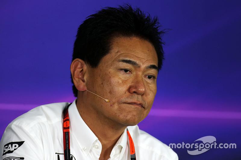 Yasuhisa Arai, Honda Director de Motorsport en la conferencia de prensa de la FIA