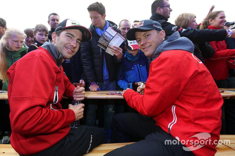 Mike Rockenfeller, Audi Sport - Takım: Phoenix Audi RS 5 DTM ve Mattias Ekström, Audi Sport - Takım:
