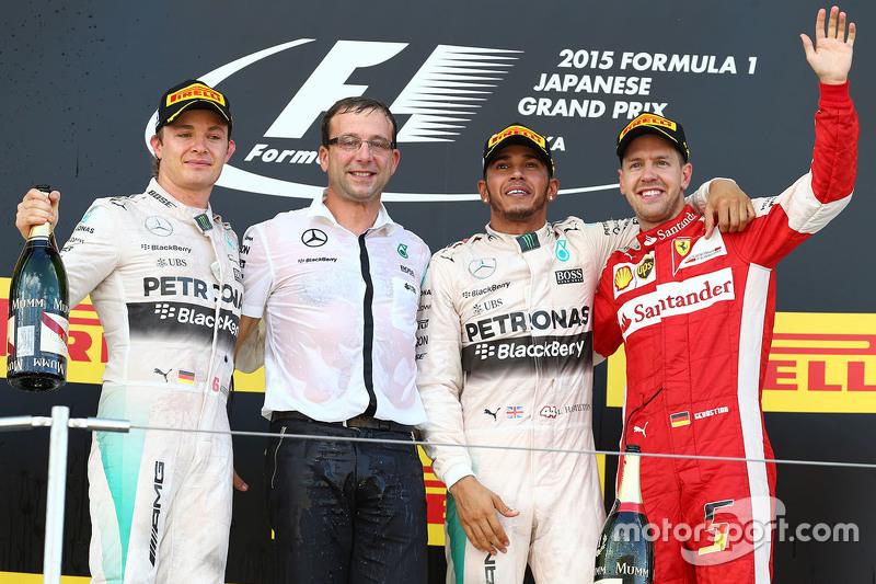 Podium: 1. Lewis Hamilton, Mercedes AMG F1 Team; 2. Nico Rosberg, Mercedes AMG F1 Team; 3. Sebastian