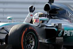 Il vincitore della gara Lewis Hamilton, Mercedes AMG F1 W06