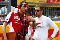 Sebastian Vettel, Ferrari com Riccardo Adami, Ferrari