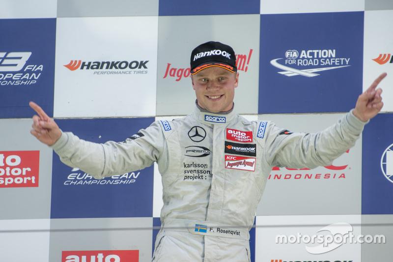 Podium: winner Felix Rosenqvist, Prema Powerteam