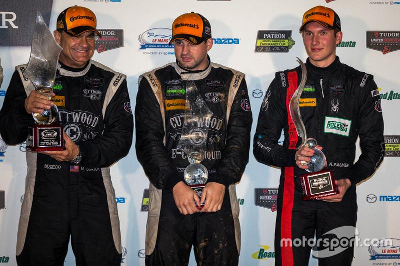 PC winners #52 PR1 Mathiasen Motorsports Oreca FLM09: Mike Guasch, Tom Kimber-Smith, Andrew Palmer