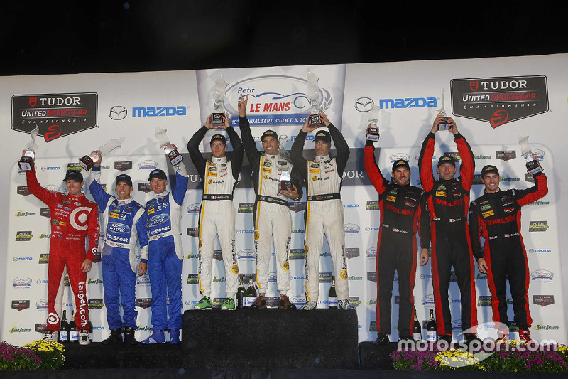 P podium: winners Sébastien Bourdais, Christian Fittipaldi, Joao Barbosa, second place Scott Pruett,
