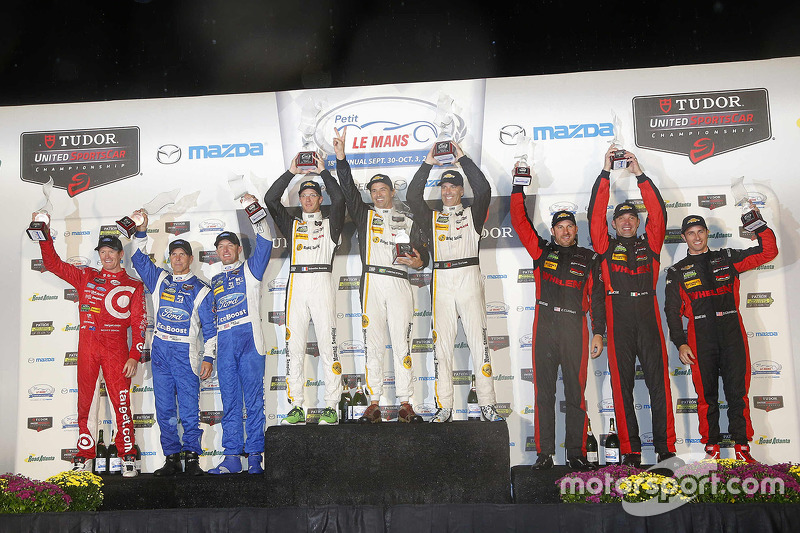 P podium: winners Sébastien Bourdais, Christian Fittipaldi, Joao Barbosa, second place Scott Pruett, Joey Hand, Scott Dixon, third place Eric Curran, Dane Cameron, Max Papis