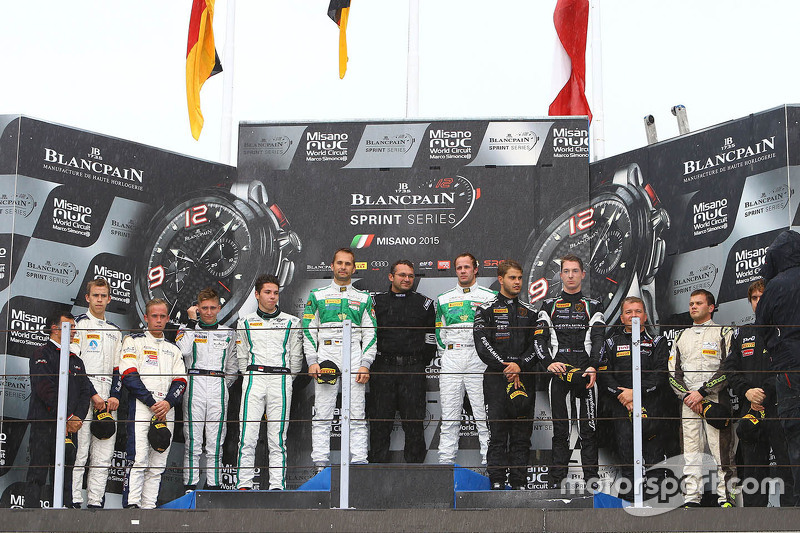 Podium: winners Marco Seefried, Norbert Siedler, Rinaldi Racing, second place Maximilian Buhk, Vince