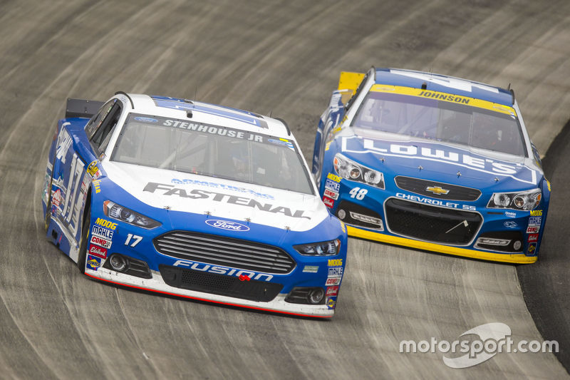 Ricky Stenhouse Jr Roush Fenway Racing Ford And Jimmie Johnson - Chevrolet ford