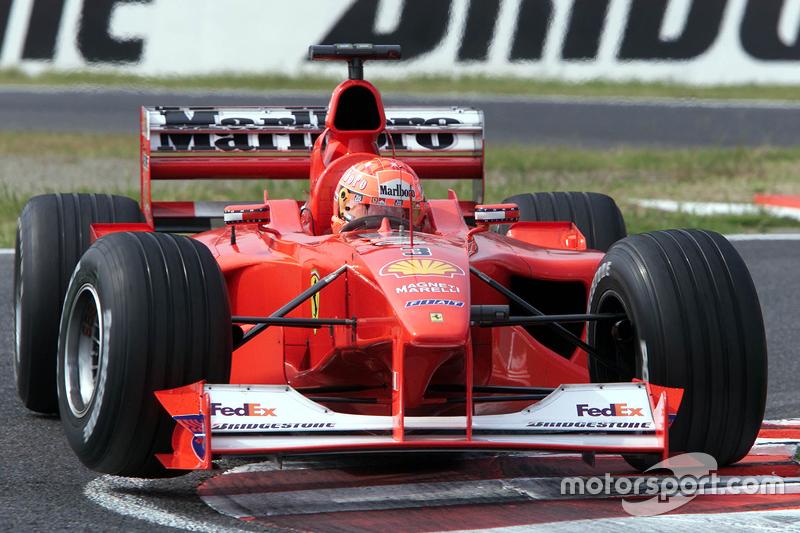 Formula 1 Michael Schumacher's first title for Ferrari